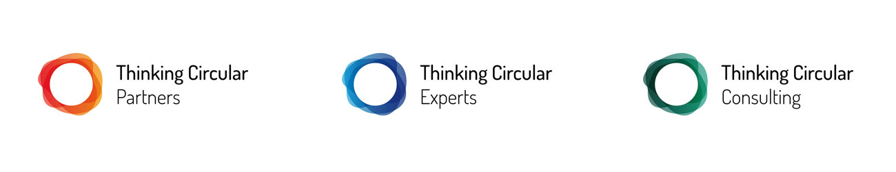 Logos von links: Thinking Circular Partners, Thinking Circular Experts und Thinking Circular Consulting