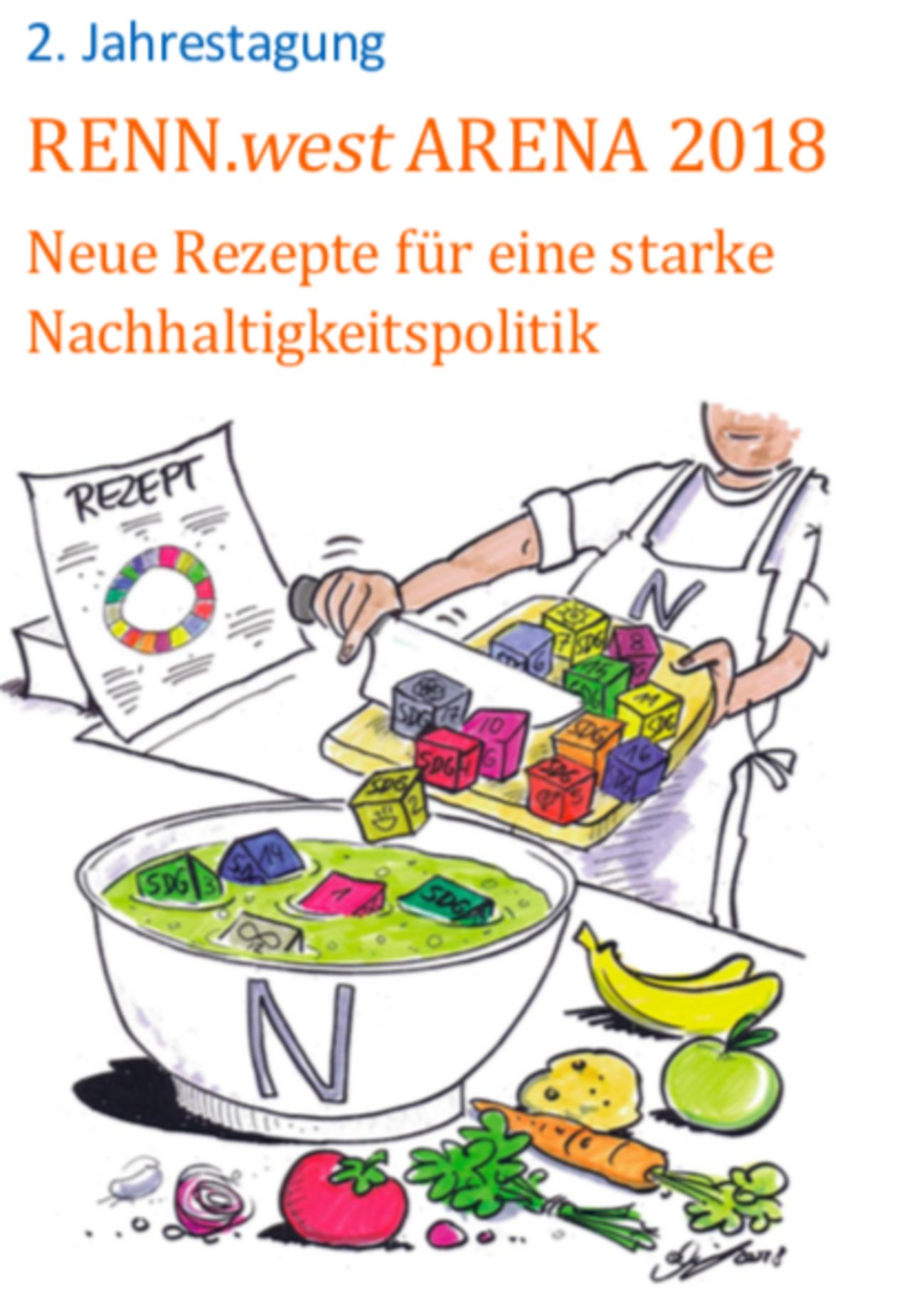 Veranstaltungsname und gezeichnetes Bild mit Suppenkoch